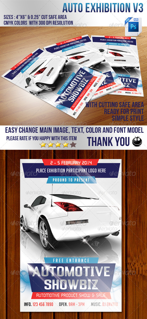 Auto Exhibition V3 - Events Flyers