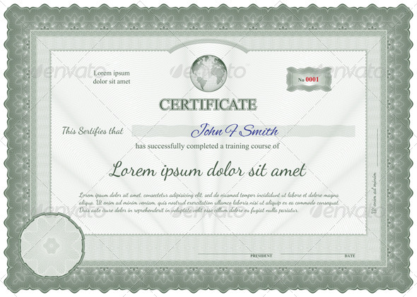 GraphicRiver Detailed Guilloche Certificate 5671349