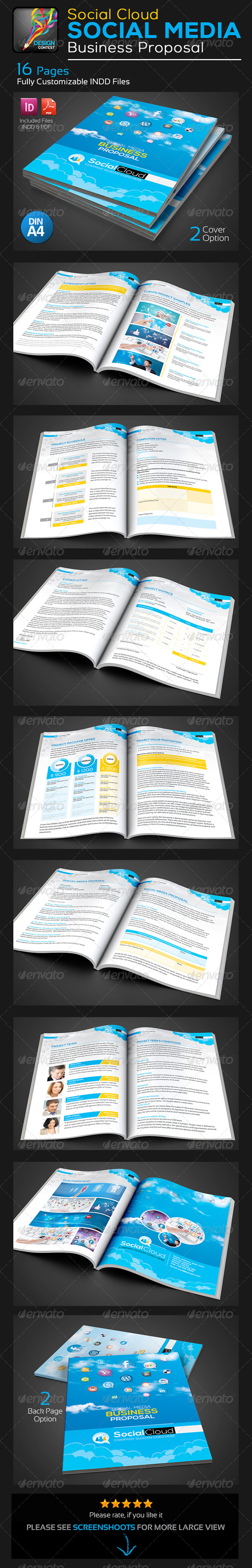 GraphicRiver Social Cloud Social Media Business Proposal 5743087