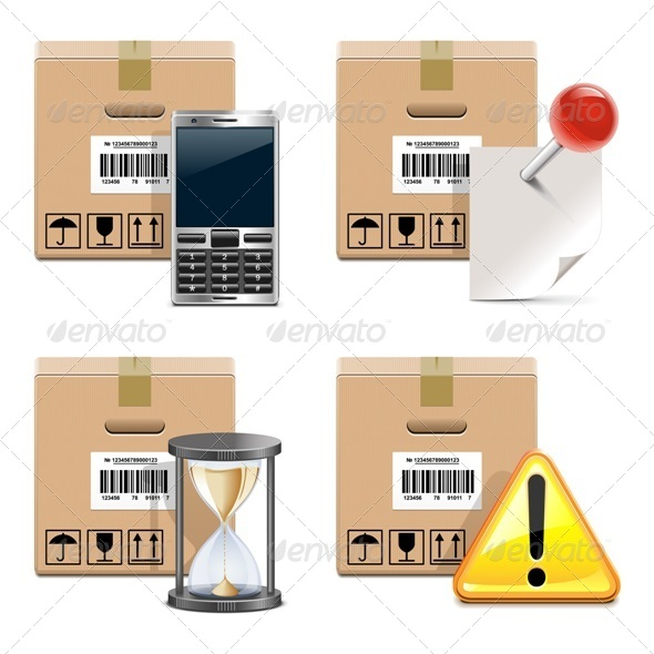 GraphicRiver Vector Shipment Icons Set 14 5744137