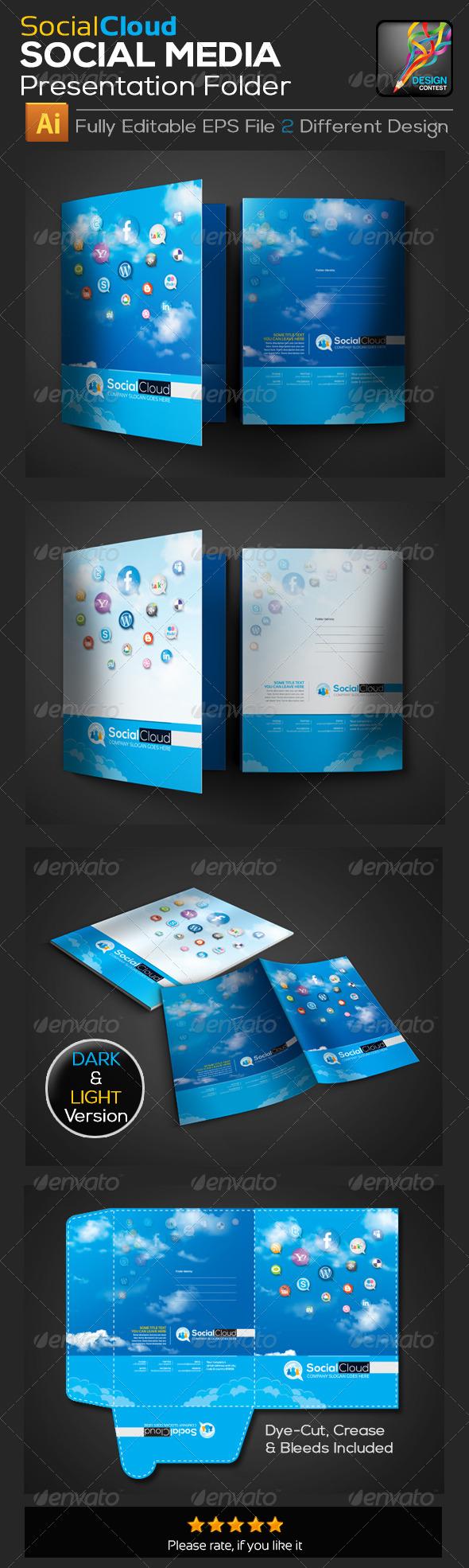 GraphicRiver Social Cloud Social Media Presentation Folder De 5744140