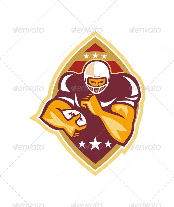 GraphicRiver American Football Running Back Star Ball 5744223