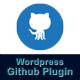 Wordpress Github Plugin - CodeCanyon Item for Sale