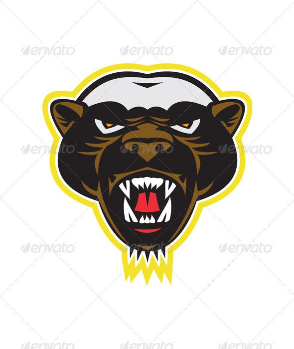 GraphicRiver Honey Badger Mascot Head 5744258