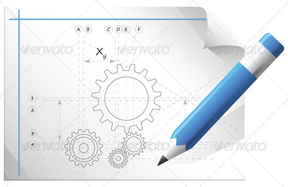 GraphicRiver Technical Drawing 5744473