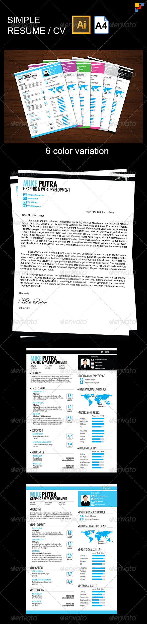 GraphicRiver Simple Resume 5744923