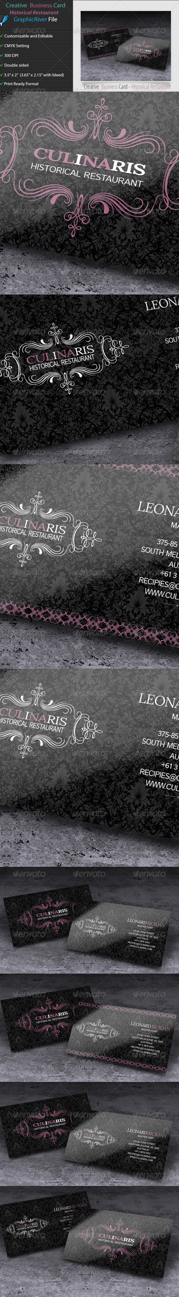 GraphicRiver Creative Business Card Culinaris 5680896
