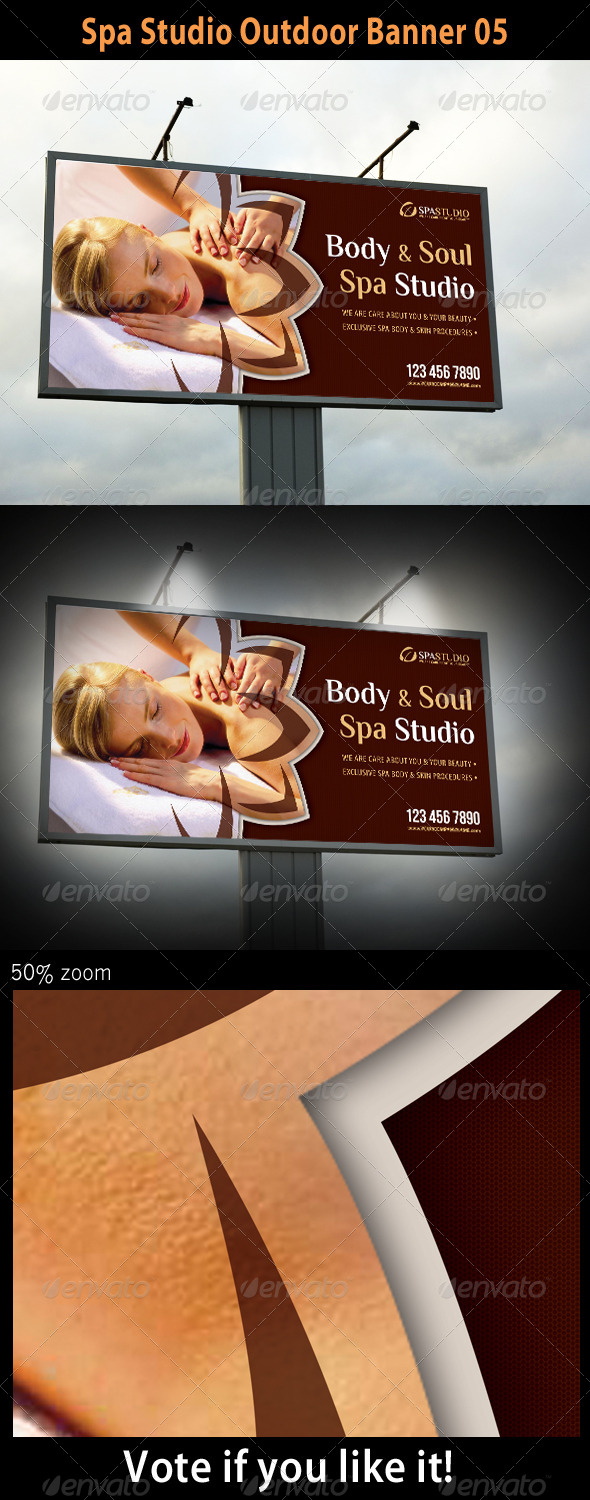 Spa Studio Outdoor Banner 05 - Signage Print Templates