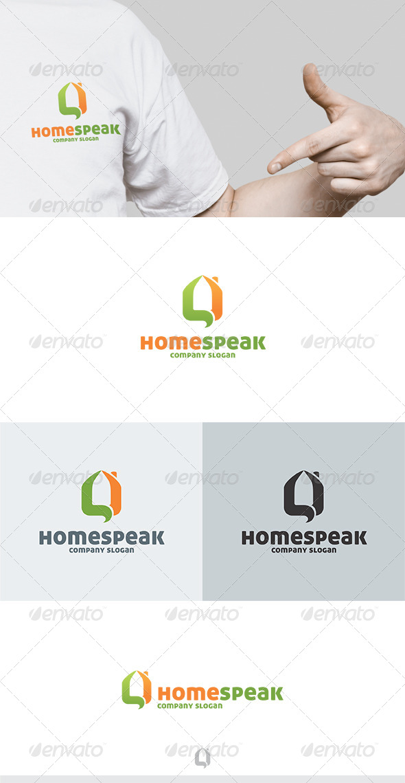 GraphicRiver Home Speak Logo 5747103
