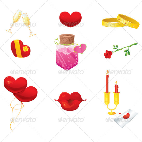 GraphicRiver Valentines Day Icons 5747337