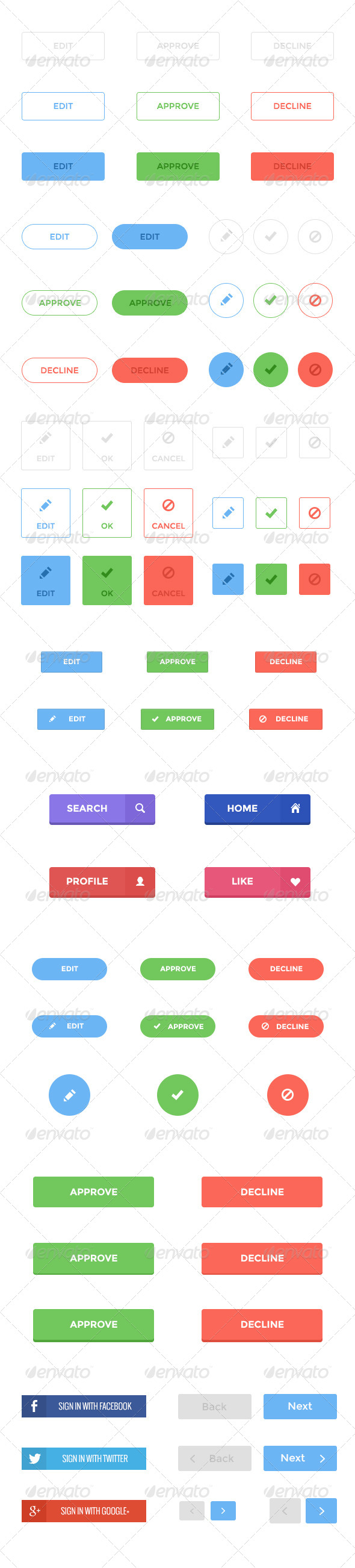 GraphicRiver Flat Buttons 5747415