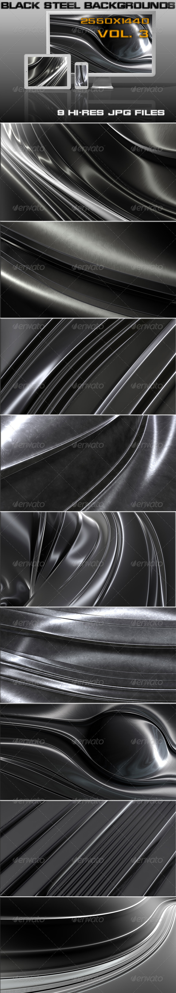 GraphicRiver Black Steel Background 5747636
