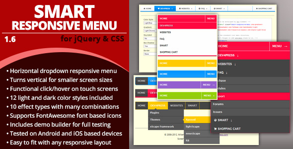 Smart Responsive Menu - CodeCanyon Item for Sale