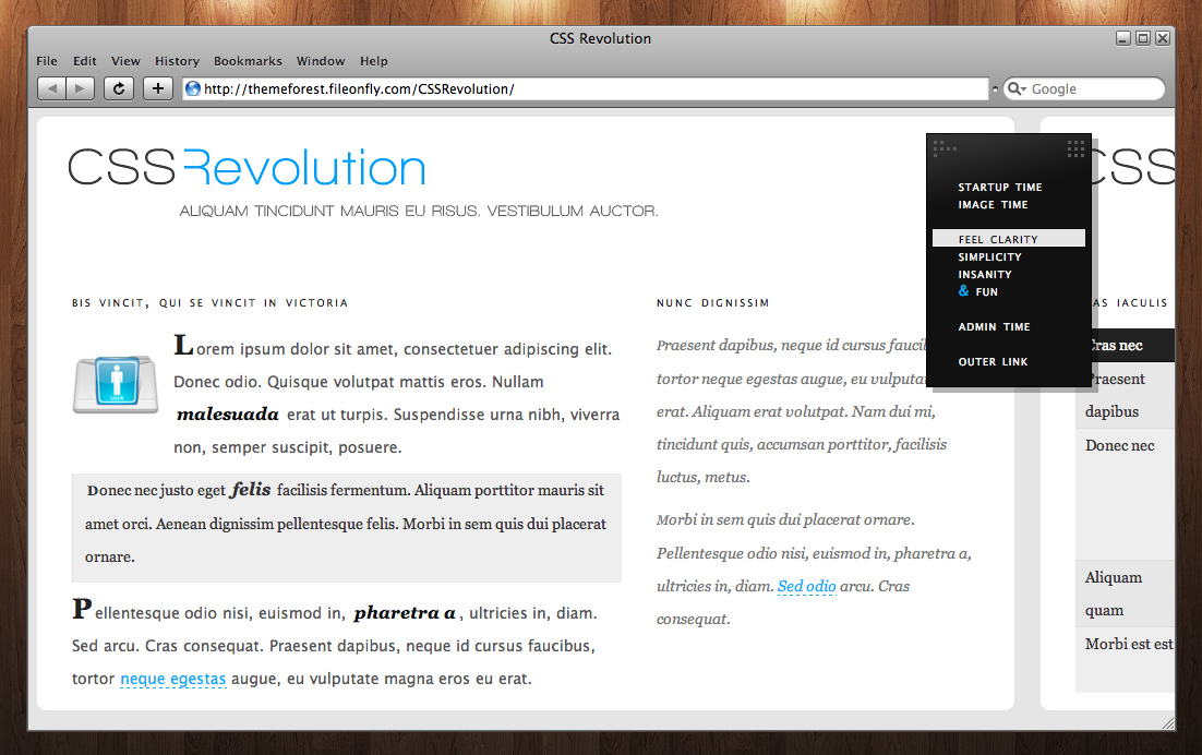 CSS Revolution - Typography example