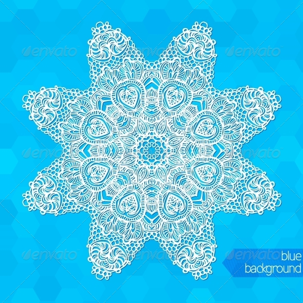 GraphicRiver Snowflakes Background 5749014