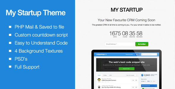 ThemeForest Creative Countdown Landing Page 5729630