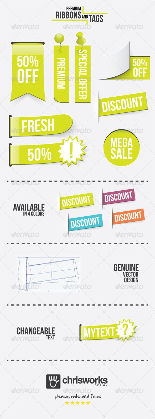 GraphicRiver Premium Ribbons and Tags 5736506