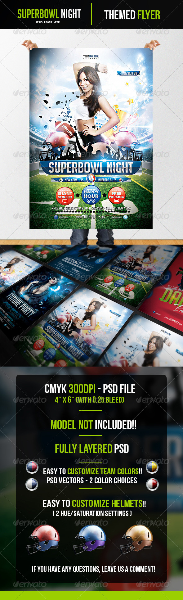 GraphicRiver Superbowl Night Flyer Template 5690532