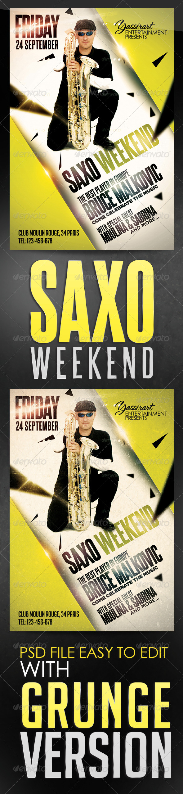 GraphicRiver Saxo Weekend Flyer Template 5750014