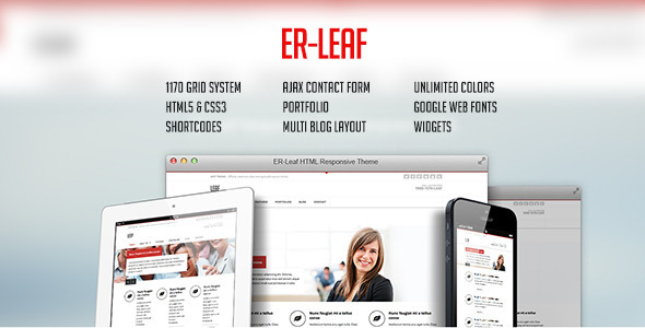 ThemeForest ER Leaf Responsive Business HTML5 Theme 5742054