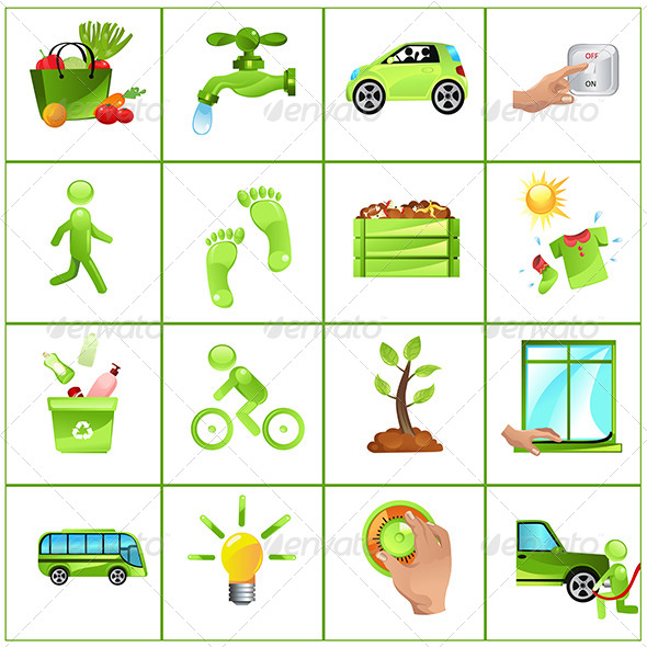 GraphicRiver Go green concept icons 5751714