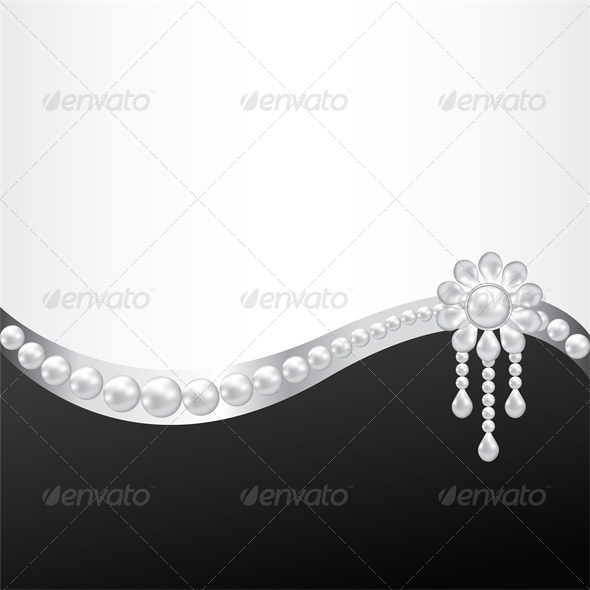 GraphicRiver Black Background with Pearl Brooch Decoration 5752382