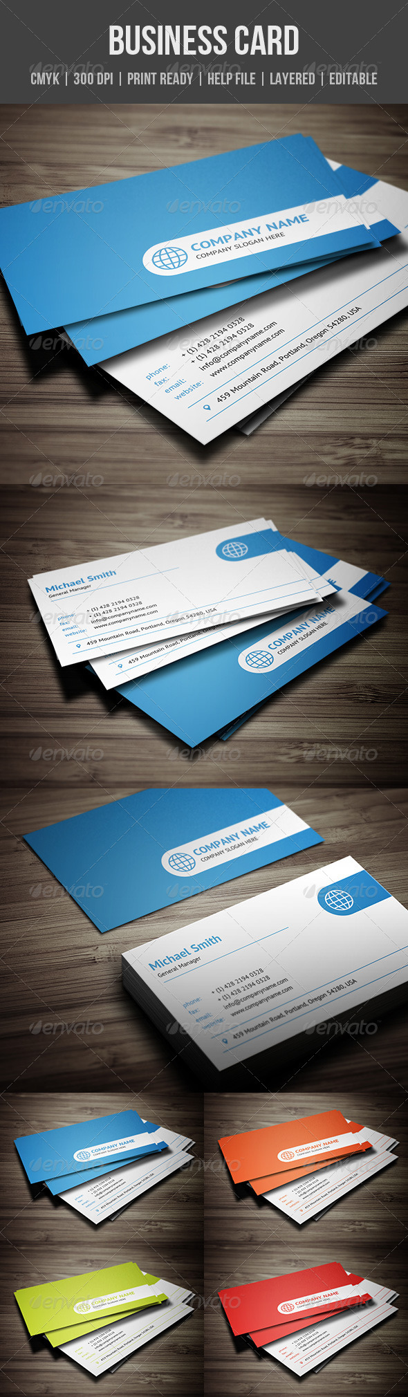 GraphicRiver Clean Corporate Business Card 5752713
