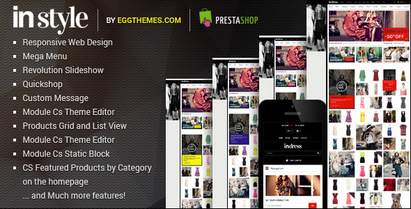 Responsive Dress Store PrestaShop Theme - InStyle