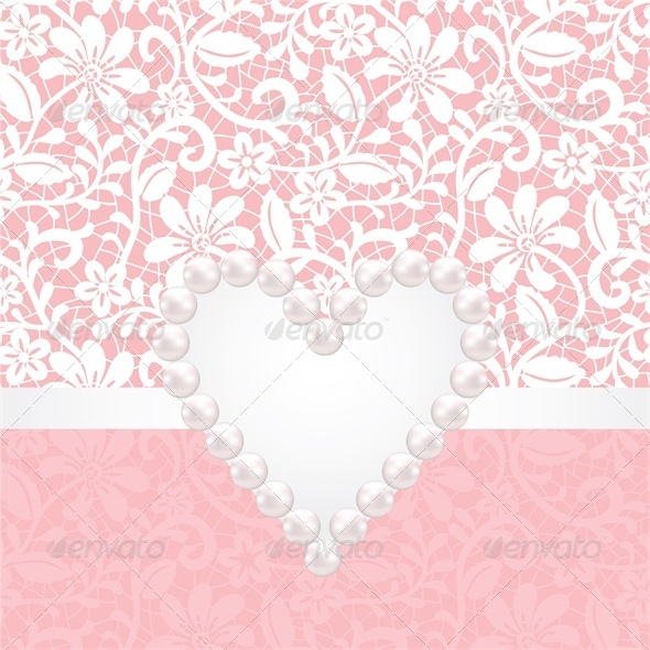 GraphicRiver Pearl Jewelry and Lace Background 5753136