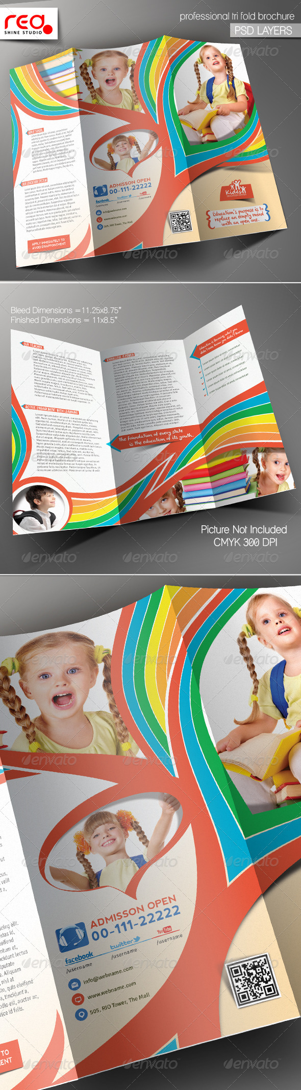 GraphicRiver Kid s School Promotion Trifold Brochure Template 5753203