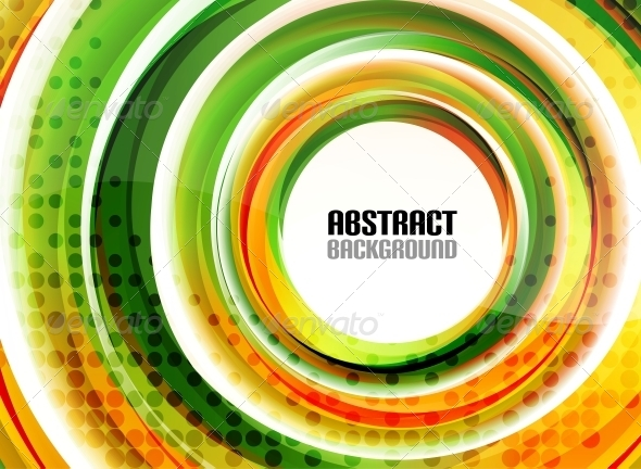 GraphicRiver Orange and Green Swirl Shapes Modern Background 5754122