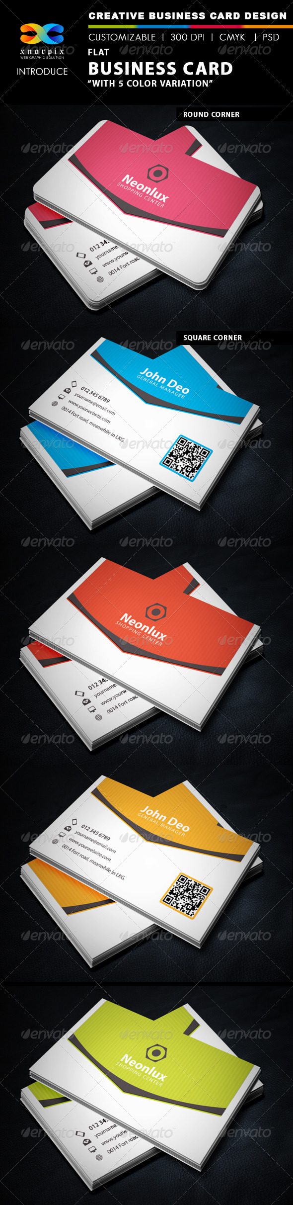 GraphicRiver Flat Business Card 5754132