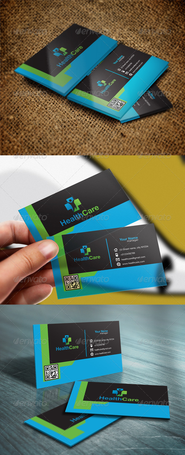 GraphicRiver Health Clinic Business Card 5754146