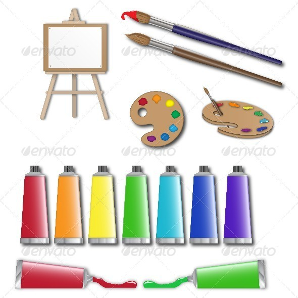 GraphicRiver Artists Supplies Icons 5685719
