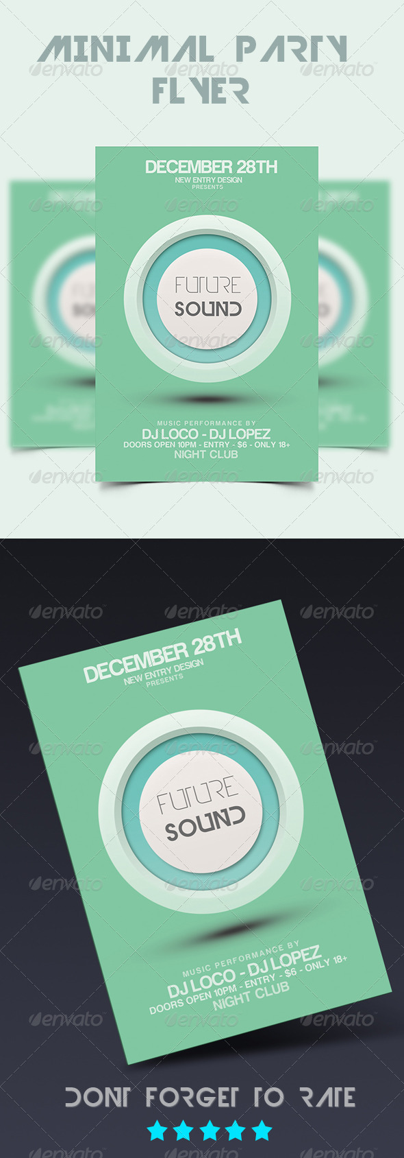 GraphicRiver Minimal Party Flyer 5754201