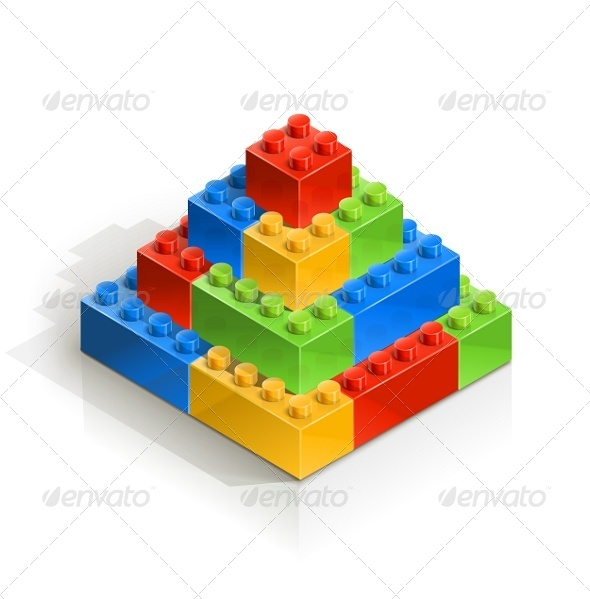 GraphicRiver Brick Piramid Meccano Toy 5755207