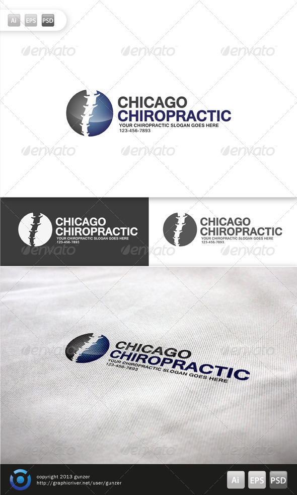 GraphicRiver Chiropractic Logo 5755293