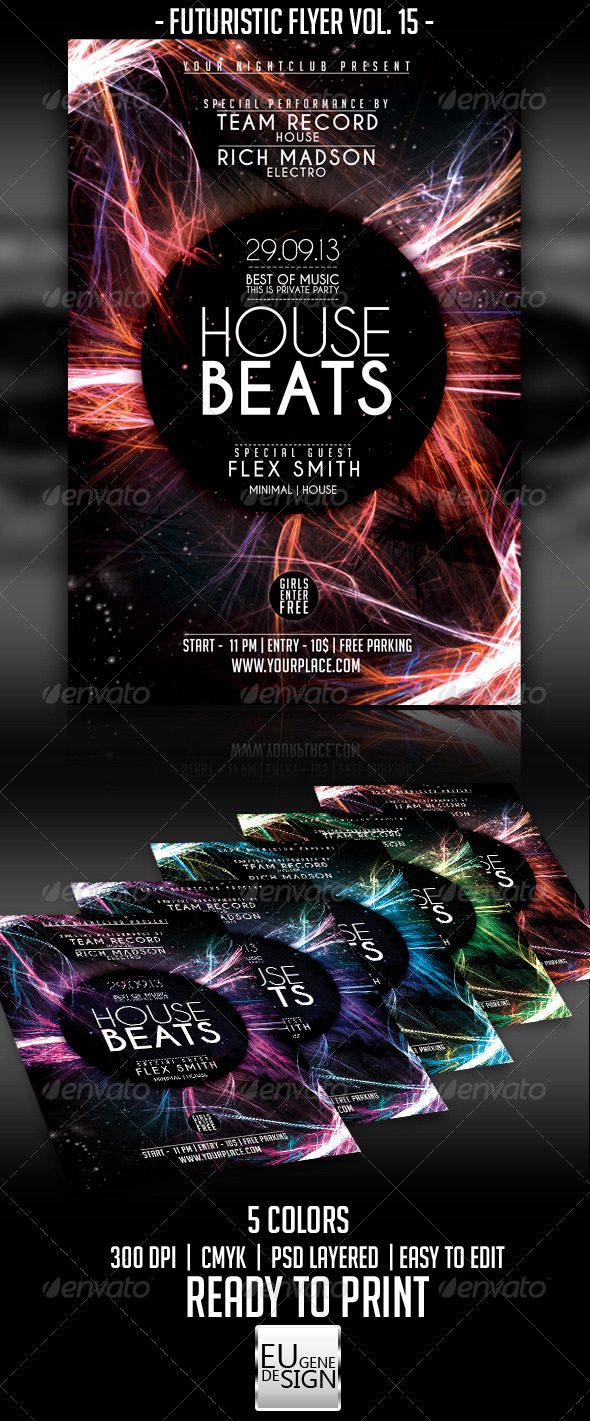 Futuristic Flyer Vol. 15 - Clubs & Parties Events