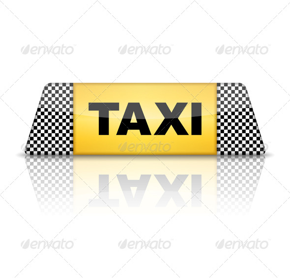 GraphicRiver Taxi Sign 5755822