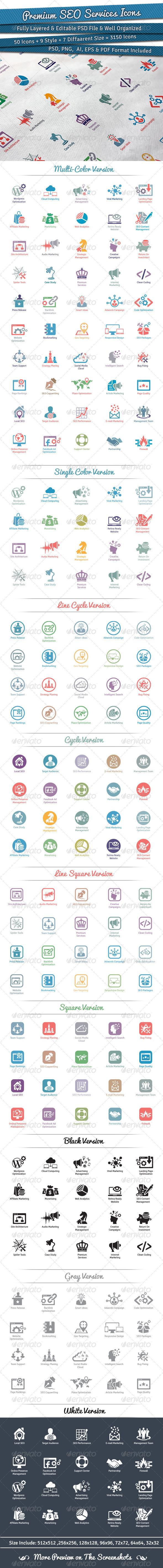 GraphicRiver Premium SEO Services Icons 5756203