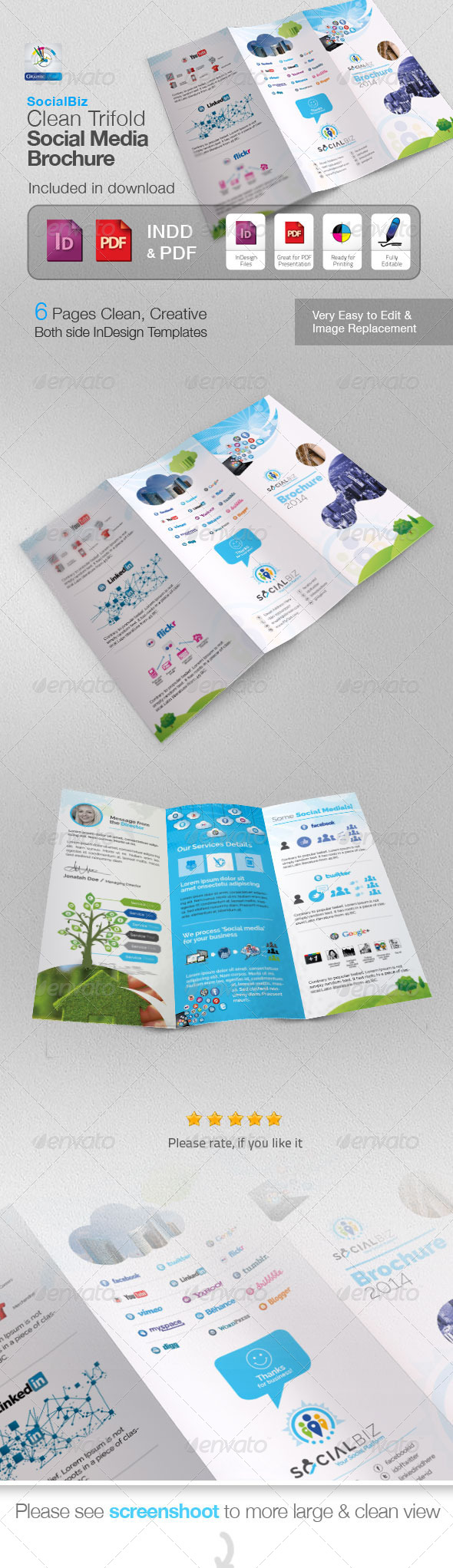 GraphicRiver SocialBiz Trifold Social Media Brochure 5756214