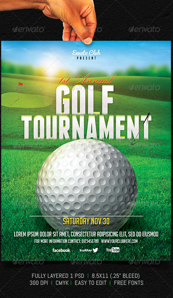 GraphicRiver Golf Tournament Flyer 5756260