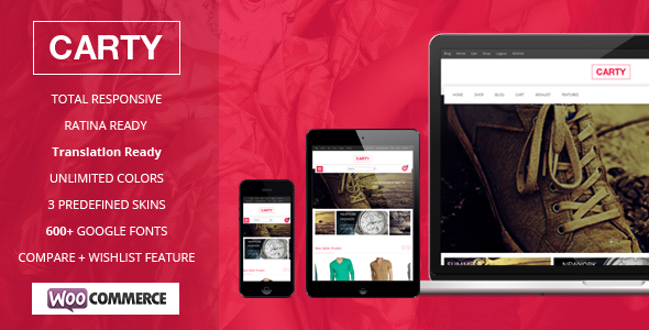 Carty Retina ,Responsive Woocommerce theme