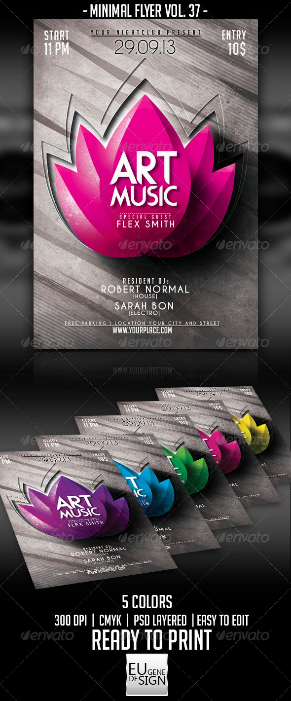 GraphicRiver Minimal Flyer Vol 37 5697550