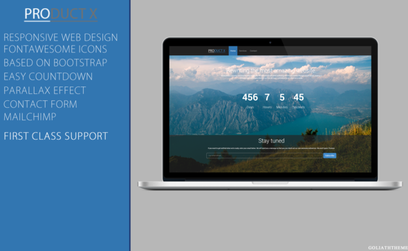 ThemeForest ProductX Responsive Coming Soon 5759039