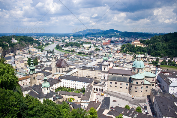 City of Salzburg, Austria - Stock Photo - Images