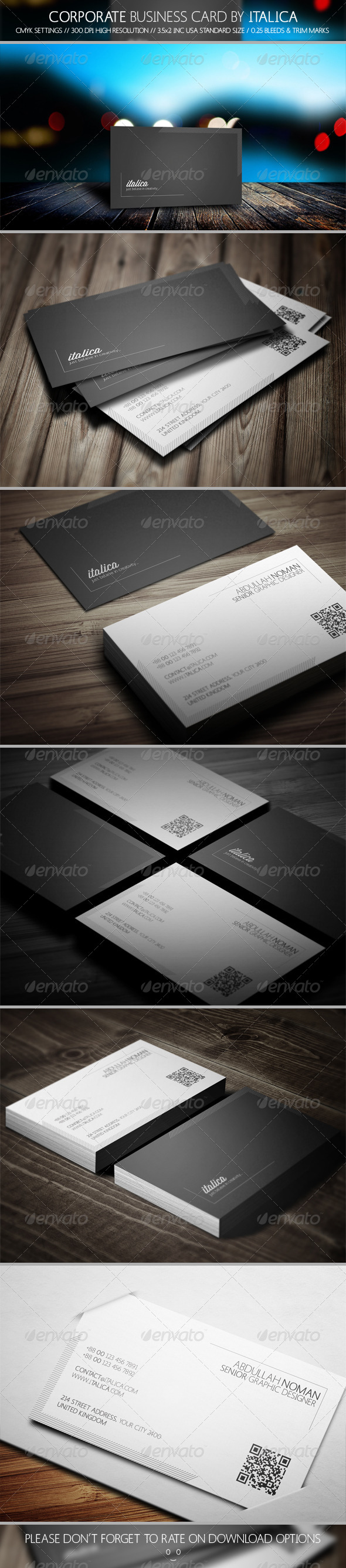 GraphicRiver Creative Business Card Design by Italica 5760075