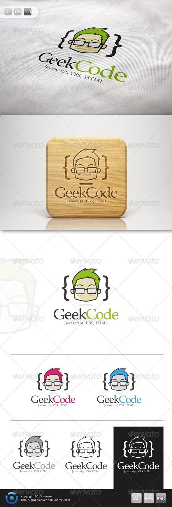 GraphicRiver Geek Code Logo 5760113