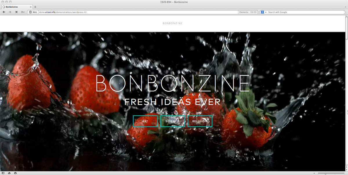 Bonbonzine–Magazine | Blog Theme. Multiple Authors