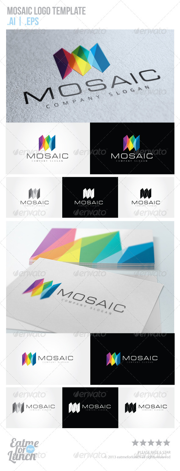 GraphicRiver Mosaic Logo Template 5766649
